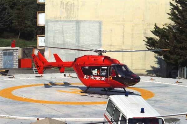 Stigliano: la vecchia elisuperfice adiacente all' ospedale