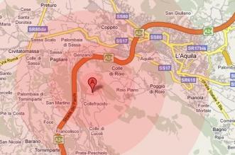 Terremoto in Abruzzo, Epicentro del sisma