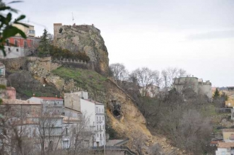 frana rupe del Castello di Stigliano