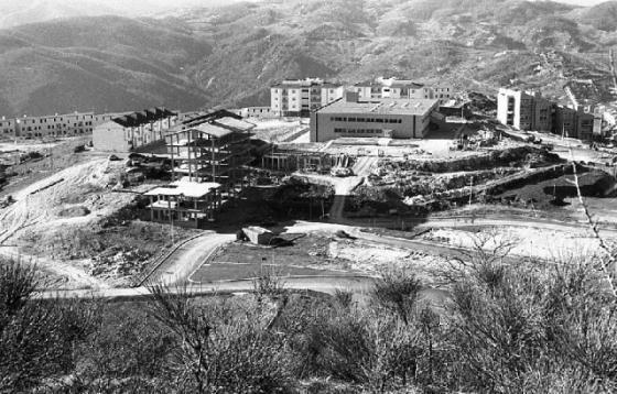 Stigliano, rione La Rotonda agli inizi degli anni ottanta