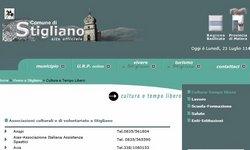 pagina web del Comune di Stigliano (MT)