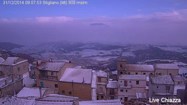 Stigliano (MT), webcam rione Chiazza