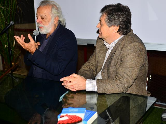 da sinistra, Sergio Staino e Giuseppe Colangelo