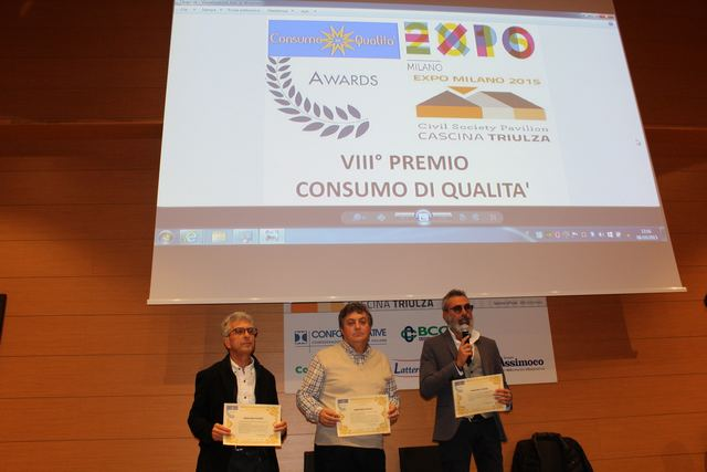 riconoscimento conferito a Mimmo Cecere e a Giuseppe Colangelo nell'ambito di EXPO Milano 2015