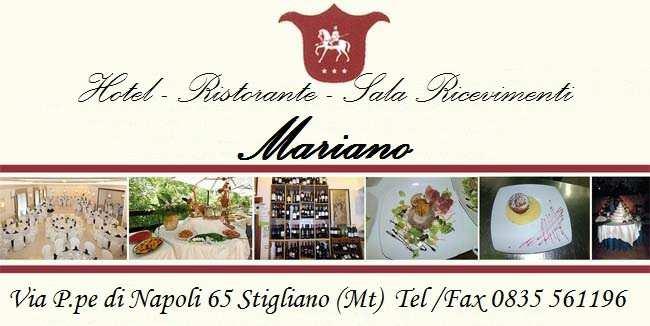 Hotel Ristorante Sala Ricevimenti Mariano Stigliano (MT)