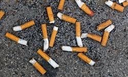 Stigliano mozziconi di sigaretta