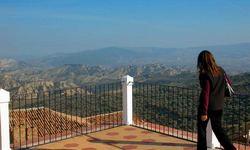 Aliano, Panorama dal terrazzo di casa Levi