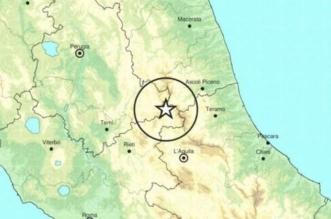 epicentro del terremoto di questa notte tra le province di Rieti e Ascoli