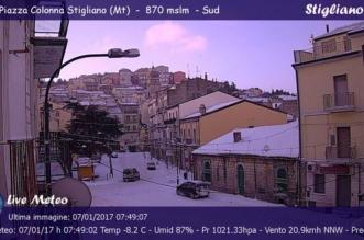 Maltempo gennaio 2017 - webcam di piazza Colonna