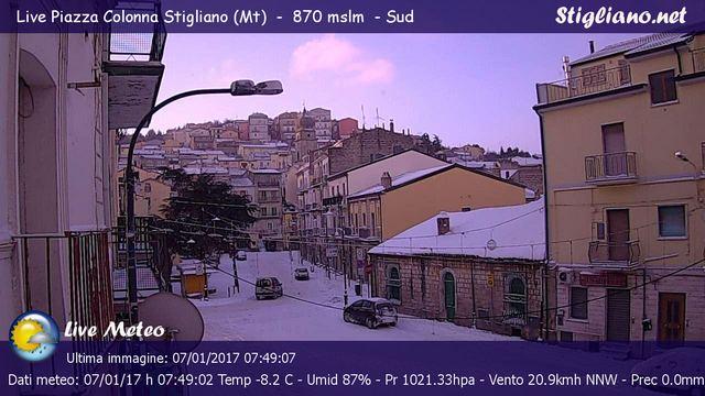 immagine ripresa dalla nostra webcam di piazza Colonna