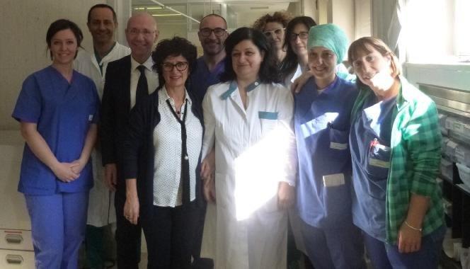 Il team della seconda Rianimazione degli Spedali Civili di Brescia, il Prof. N. Latronico il terzo da sinistra