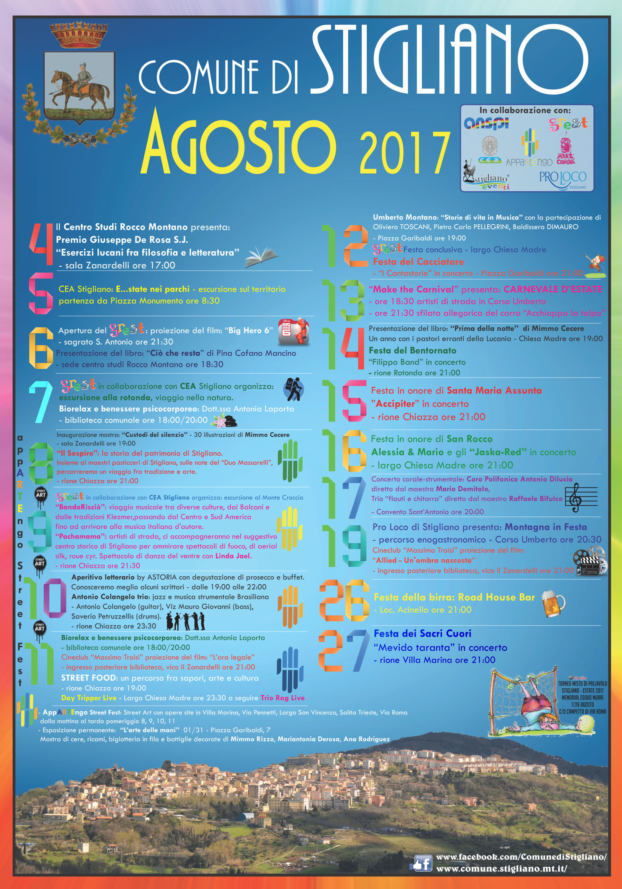 Programma Agosto Stiglianese 2017