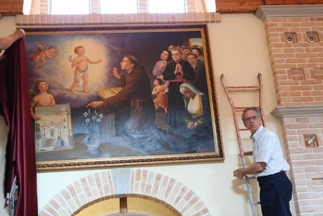 Nicola Iosca, donazione del dipinto di Sant'Antonio