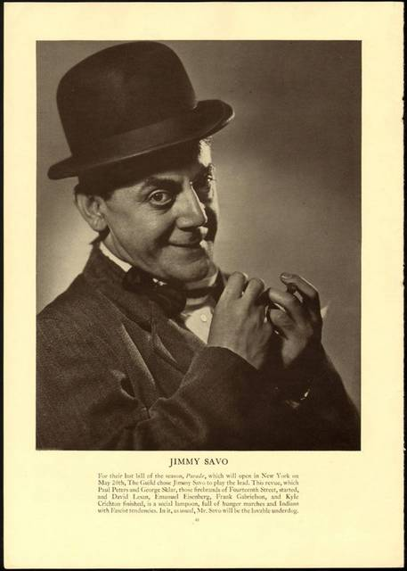 Jimmy Savo – l'annuncio di una prima il 20 maggio