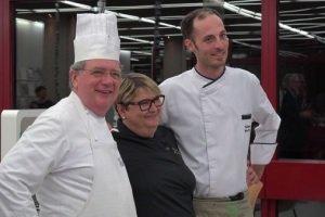 La nota chef lucana Enza Leone tra il francese Jean-Marie Dumaine e l'austriaco Julien Reinisch