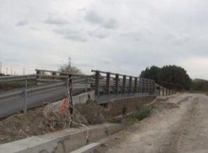 il ponte in ferro sulla ex S.S 176 Craco-Pisticci