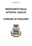 Comune di Stigliano, cose fatte e cose da fare