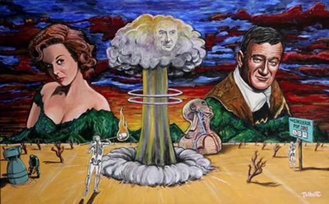 John Wayne e Susan Hayward nel film Il conquistatore