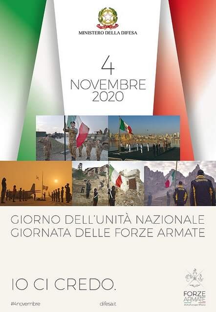 4 novembre 2020, festa delle Forze Armate