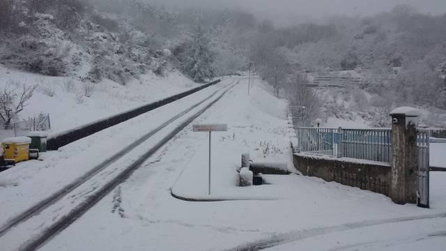 Nevicata di primavera a Stigliano