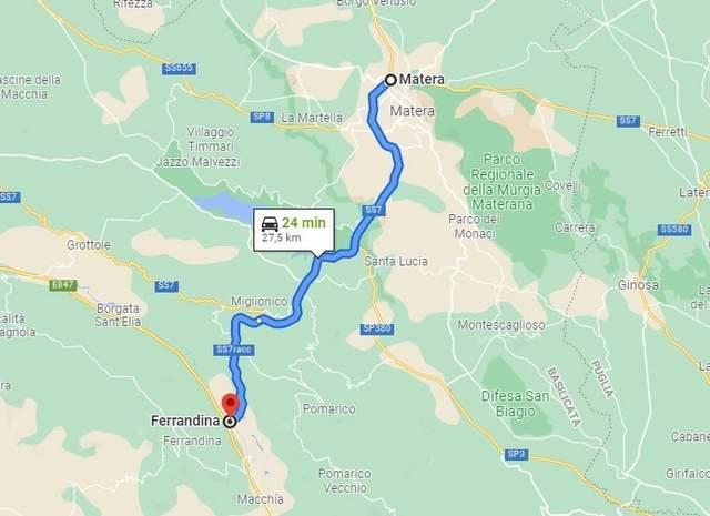 SS7 Matera-Ferrandina -